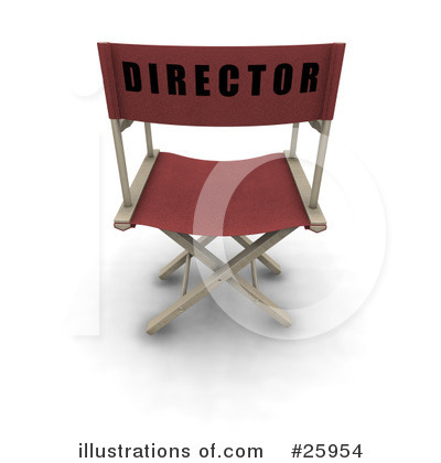 Directors Chair Clipart #25954 by KJ Pargeter