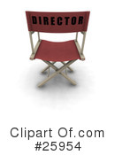 Royalty-Free (RF) Directors Chair Clipart Illustration #25954