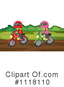 Dirt Bikes Clipart #1118110 by Graphics RF