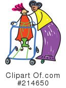 Royalty-Free (RF) Disabled Clipart Illustration #214650