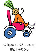 Royalty-Free (RF) Disabled Clipart Illustration #214653
