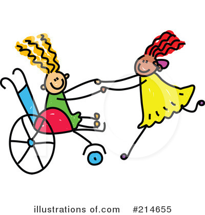 Royalty-Free (RF) Disabled Clipart Illustration by Prawny - Stock Sample #214655