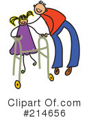 Royalty-Free (RF) Disabled Clipart Illustration #214656