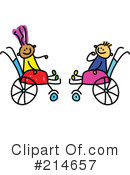 Royalty-Free (RF) Disabled Clipart Illustration #214657