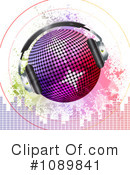 Royalty-Free (RF) Disco Ball Clipart Illustration #1089841