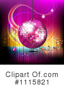 Royalty-Free (RF) Disco Ball Clipart Illustration #1115821