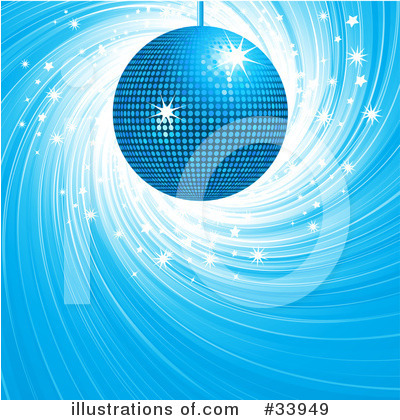 Royalty-Free (RF) Disco Ball Clipart Illustration by elaineitalia - Stock Sample #33949