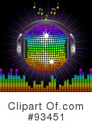 Royalty-Free (RF) disco ball Clipart Illustration #93451