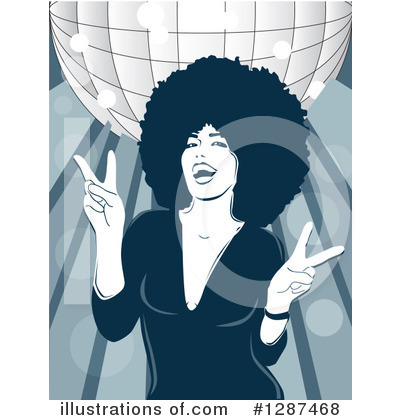 Afro Clipart #1287468 by David Rey
