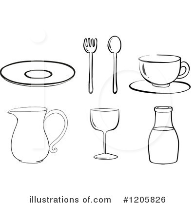 Plate Clipart #1205826 by Graphics RF