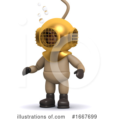 Royalty-Free (RF) Diver Clipart Illustration by Steve Young - Stock Sample #1667699