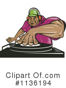 Royalty-Free (RF) dj Clipart Illustration #1136194