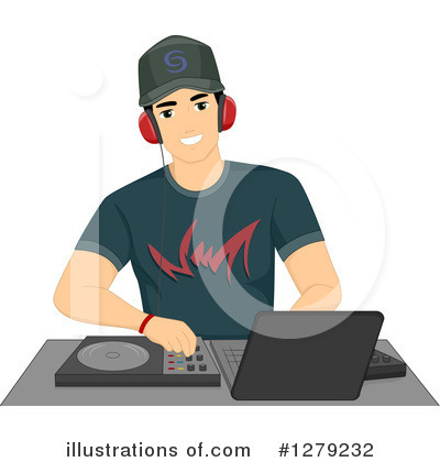Dj Clipart #1279232 by BNP Design Studio