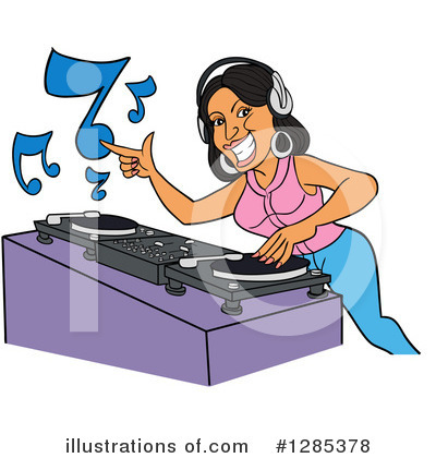 Royalty-Free (RF) Dj Clipart Illustration by LaffToon - Stock Sample #1285378