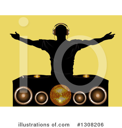 Royalty-Free (RF) Dj Clipart Illustration by elaineitalia - Stock Sample #1308206