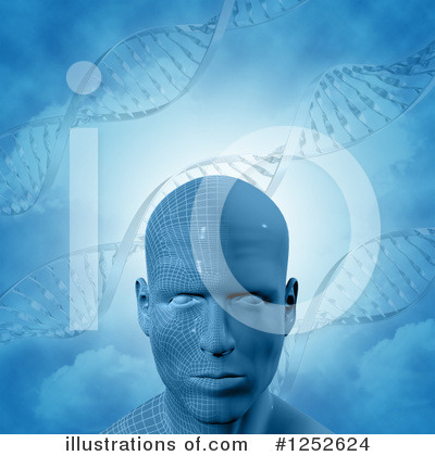 Dna Clipart #1252624 by KJ Pargeter