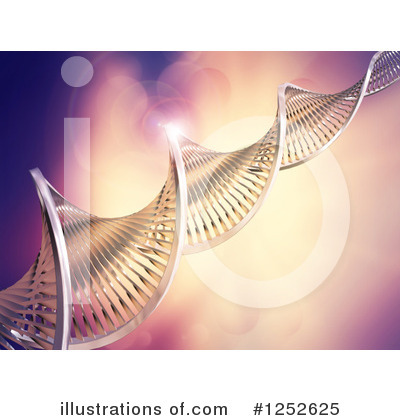 Dna Clipart #1252625 by KJ Pargeter