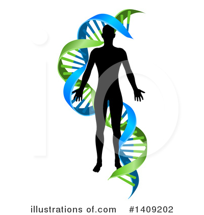 Dna Clipart #1409202 by AtStockIllustration