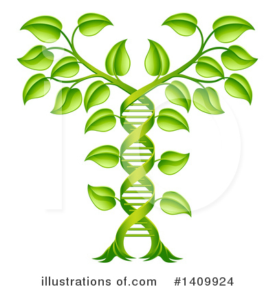 Royalty-Free (RF) Dna Clipart Illustration by AtStockIllustration - Stock Sample #1409924