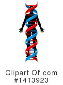 Dna Clipart #1413923 by AtStockIllustration