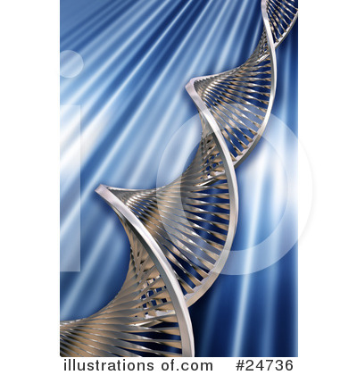 Royalty-Free (RF) Dna Clipart Illustration by KJ Pargeter - Stock Sample #24736