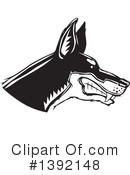 Royalty-Free (RF) Doberman Clipart Illustration #1392148