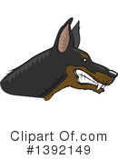 Royalty-Free (RF) Doberman Clipart Illustration #1392149
