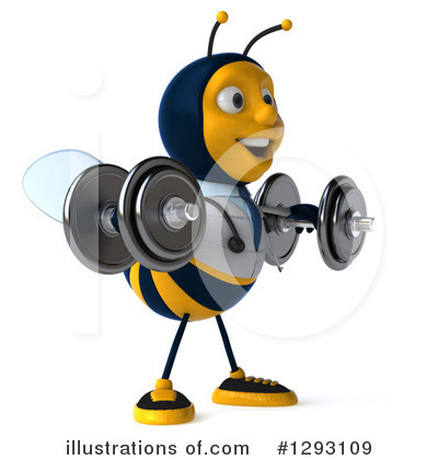Royalty-Free (RF) Doctor Bee Clipart Illustration by Julos - Stock Sample #1293109