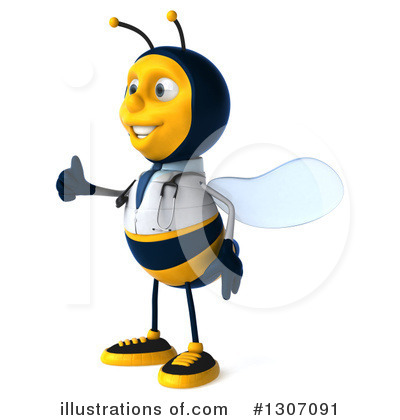 Doctor Bee Clipart #1307091 by Julos
