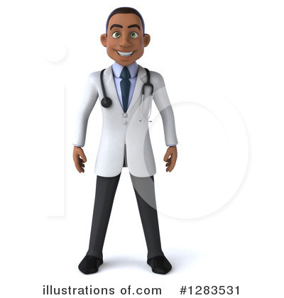 Young Black Male Doctor Clipart #1283531 by Julos