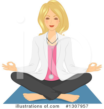 Meditation Clipart #1307957 by BNP Design Studio
