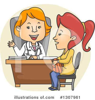 Royalty-Free (RF) Doctor Clipart Illustration by BNP Design Studio - Stock Sample #1307961