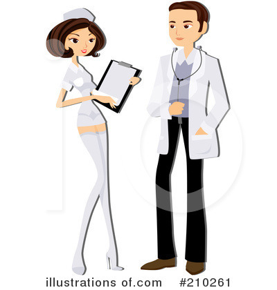 Royalty-Free (RF) Doctor Clipart Illustration by BNP Design Studio - Stock Sample #210261