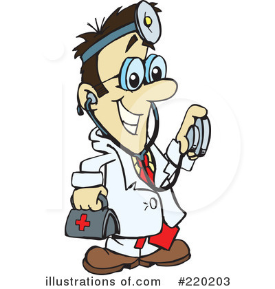Royalty free rf doctor clipart illustration by dennis holmes designs