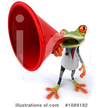 Royalty-Free (RF) Doctor Frog Clipart Illustration by Julos - Stock Sample #1089182