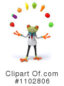 Royalty-Free (RF) Doctor Frog Clipart Illustration #1102806