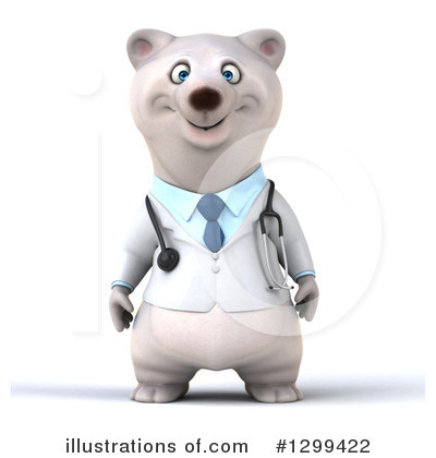 Doctor Polar Bear Clipart #1299422 by Julos