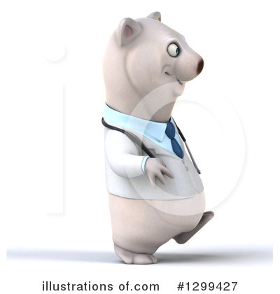 Doctor Polar Bear Clipart #1299427 by Julos