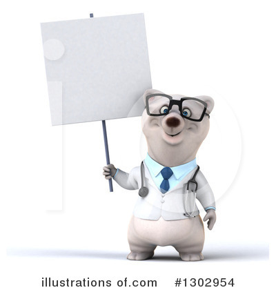 Doctor Polar Bear Clipart #1302954 by Julos
