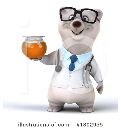 Doctor Polar Bear Clipart #1302955 by Julos