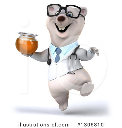 Doctor Polar Bear Clipart #1306810 by Julos