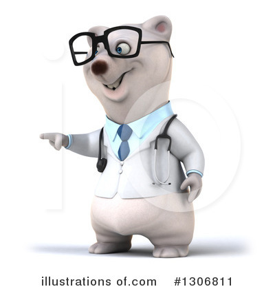 Doctor Polar Bear Clipart #1306811 by Julos