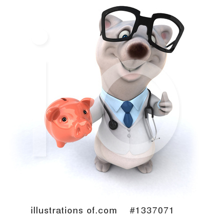 Doctor Polar Bear Clipart #1337071 by Julos