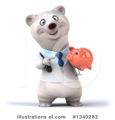 Doctor Polar Bear Clipart #1340283 by Julos