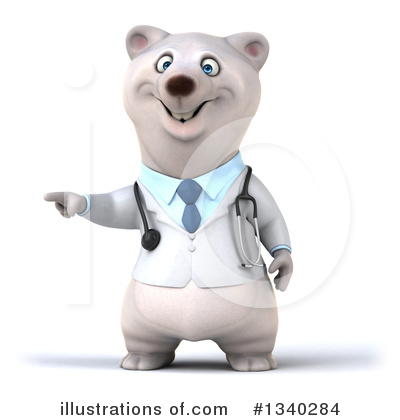 Doctor Polar Bear Clipart #1340284 by Julos