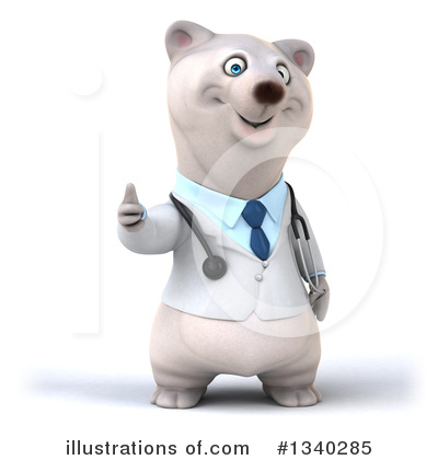 Doctor Polar Bear Clipart #1340285 by Julos
