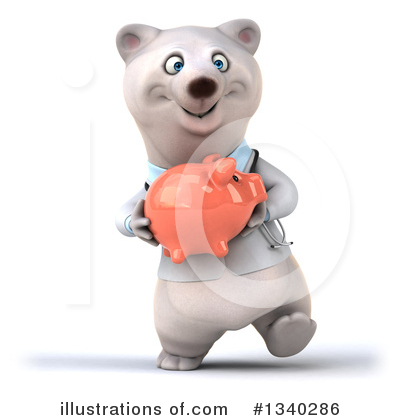 Doctor Polar Bear Clipart #1340286 by Julos