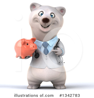 Doctor Polar Bear Clipart #1342783 by Julos