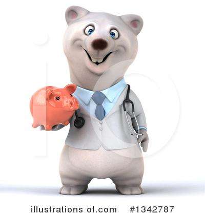 Doctor Polar Bear Clipart #1342787 by Julos
