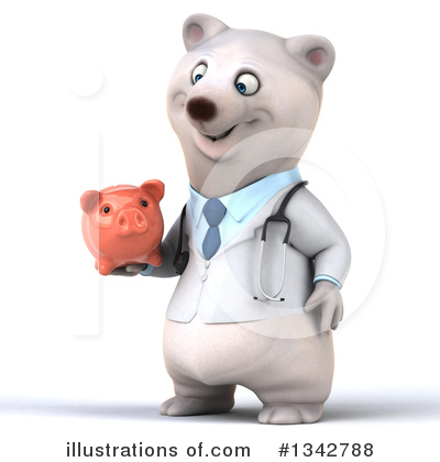 Doctor Polar Bear Clipart #1342788 by Julos